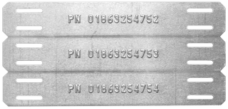 3 up embossed cable tag