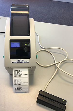 Health Card Label Swipe Printer